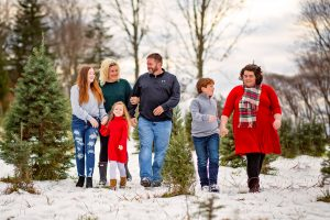 The Wolfe Family on the Christmas tree farm - 2020